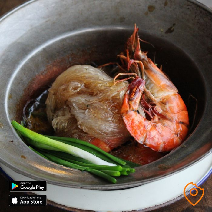 Baked Tiger Prawns with Glass Noodle