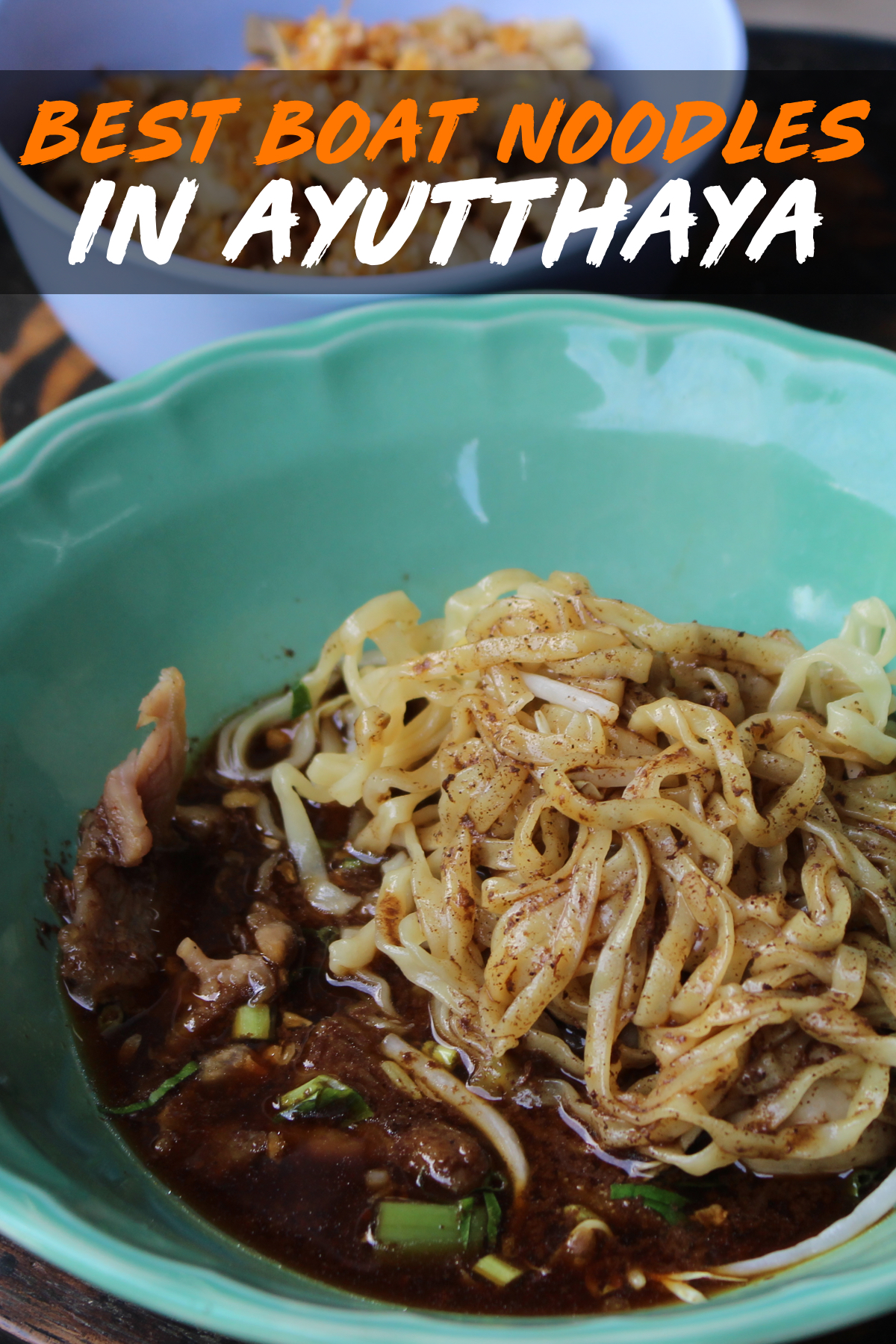 The Best Boat Noodles in Ayutthaya