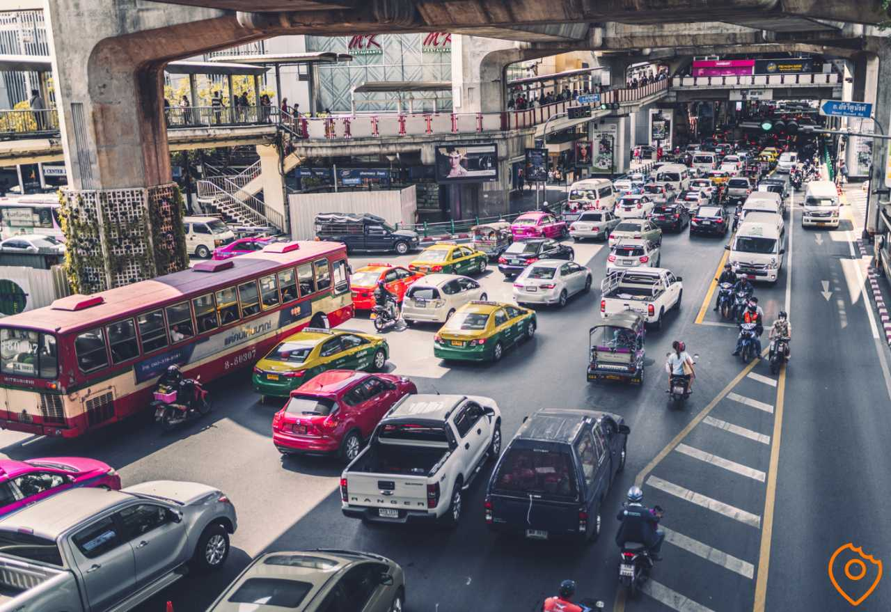 Traffic Jam Bangkok Sukhumvit Road