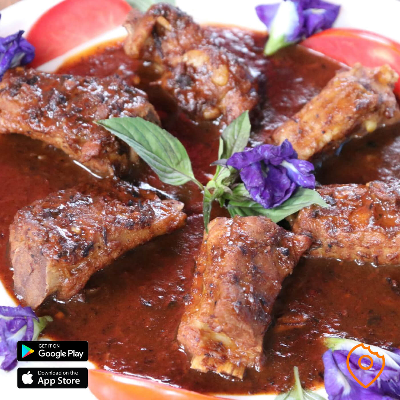 Spare Ribs with Honey Mexican Sauce