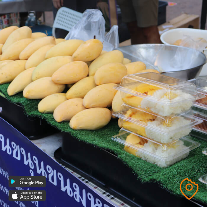 mango sticky rice bangkok street food