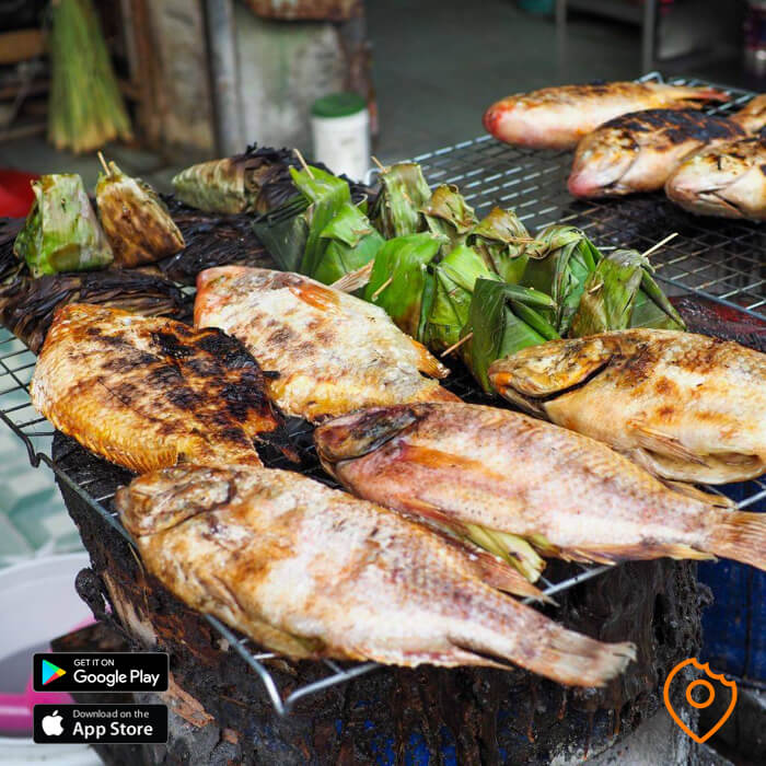 Grilled Red Fish at Lert Ros