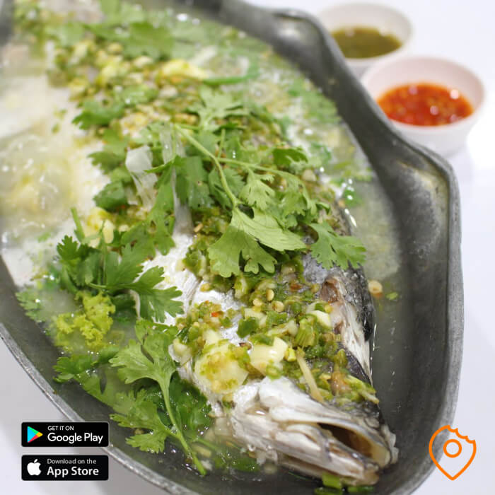 Steamed Seabass at T&K Seafood