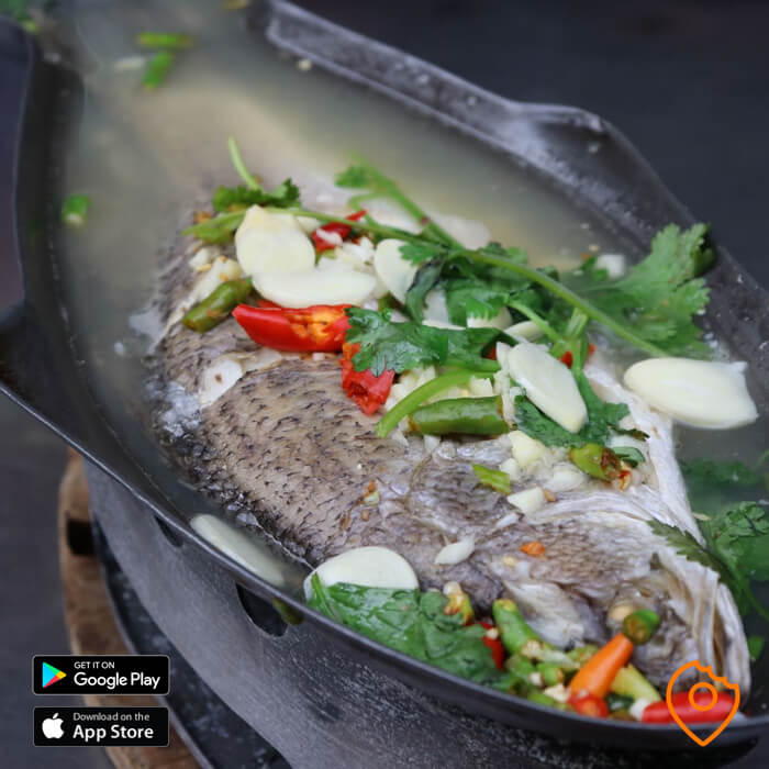 Steamed Sea Bass with Chillis