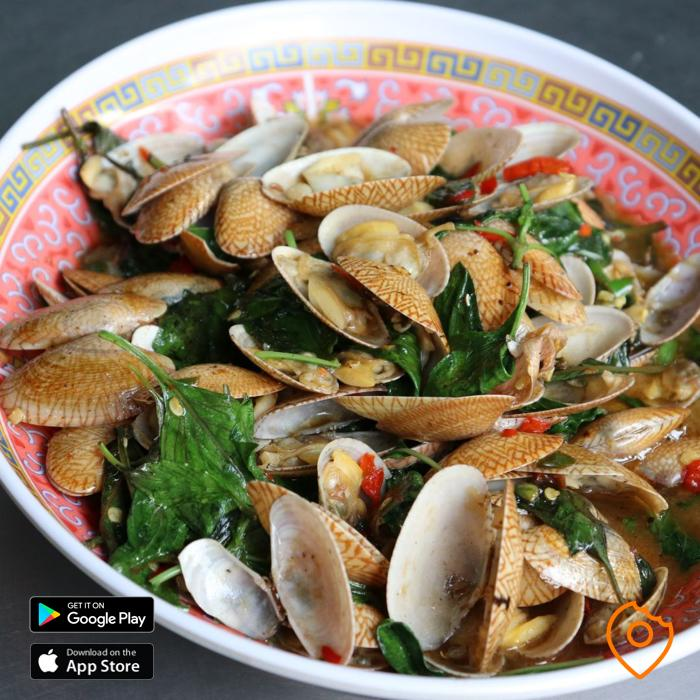 stir fried clams in chili