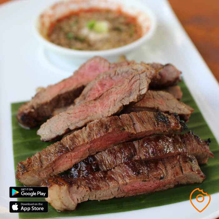 Grilled Beef with JAEW Sauce
