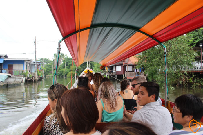 taling chan floating market boat ride