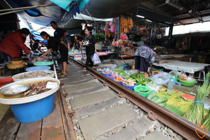 Amphawa Floating Market Railway Market