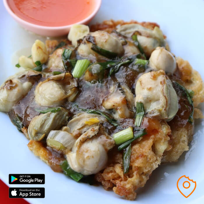 chinatown food tour oyster omelette