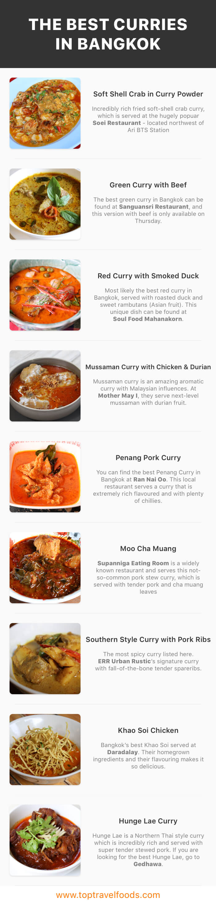 Best Curry In Bangkok Infographic