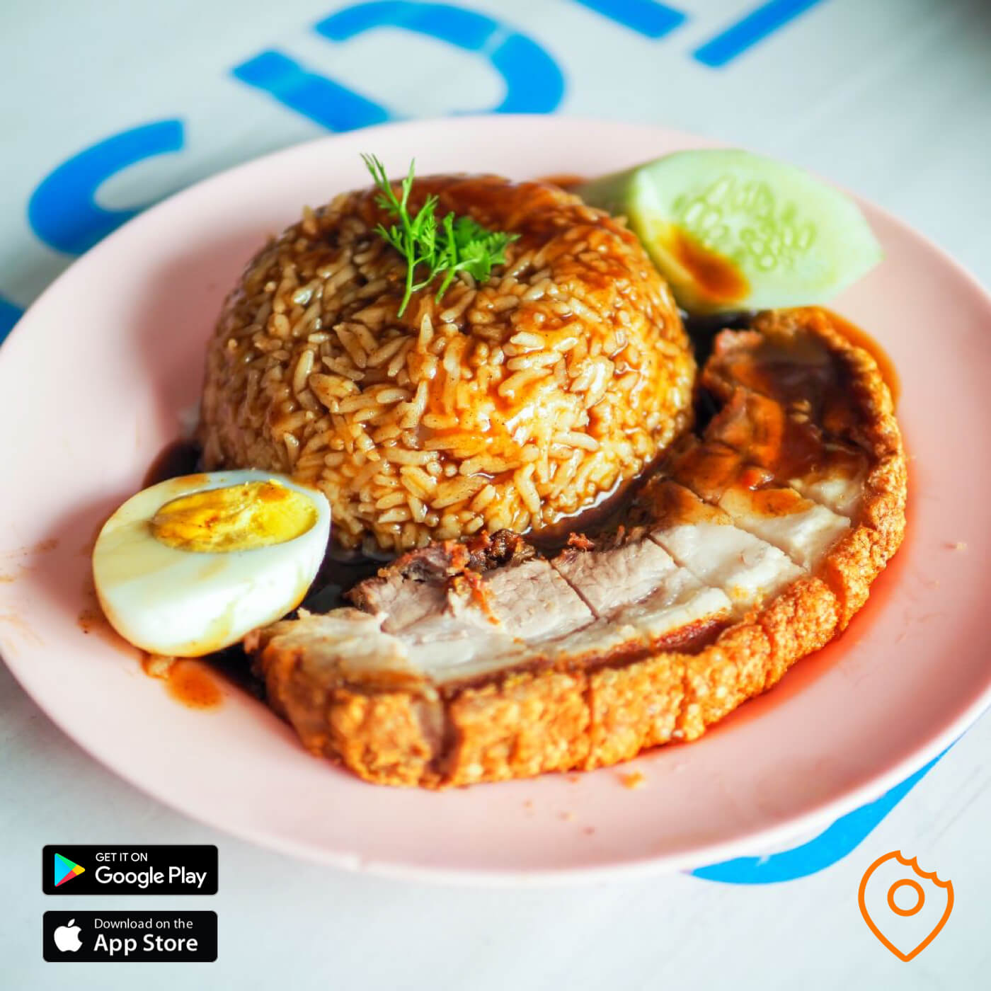 Crispy Pork with Rice in Chiang Mai