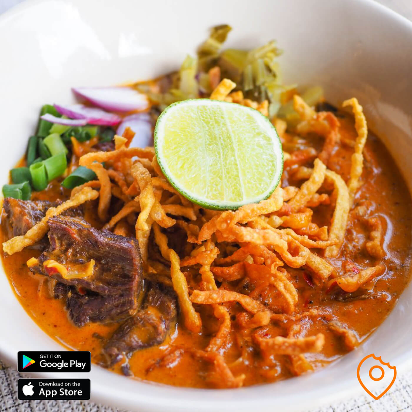 Khao Soi with Stewed Beef at Pakorn's Kitchen