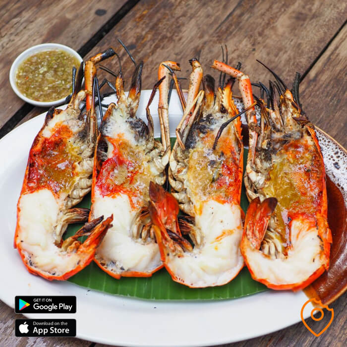 Seafood in Chiang Mai Giant River Prawn