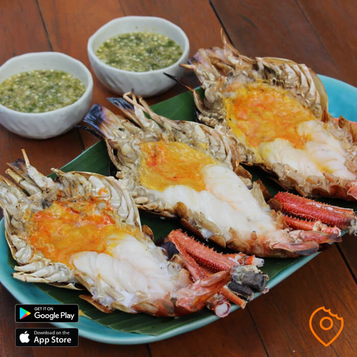 Grilled River Prawns Thailand