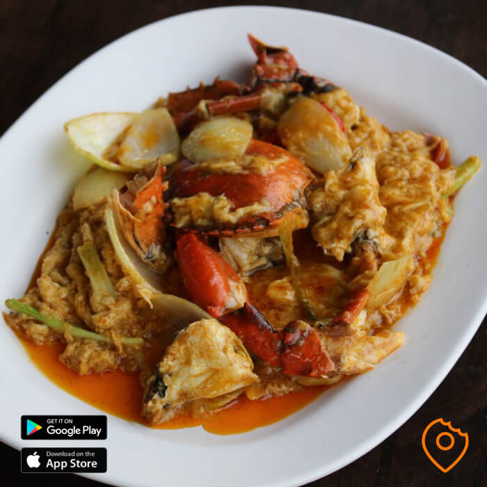stir-fried crab in curry powder