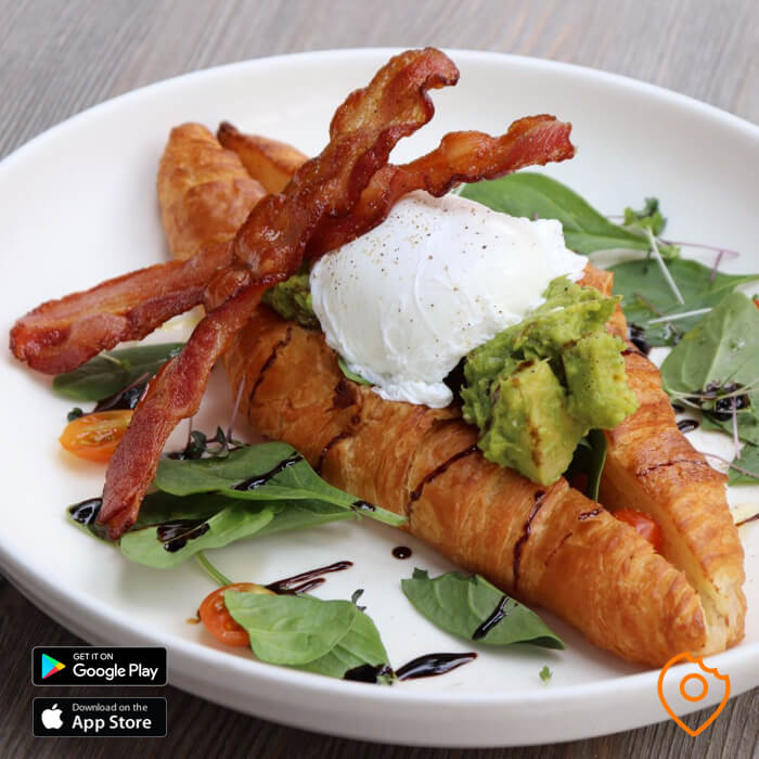Bacon Croissant The Coffee Club Pattaya