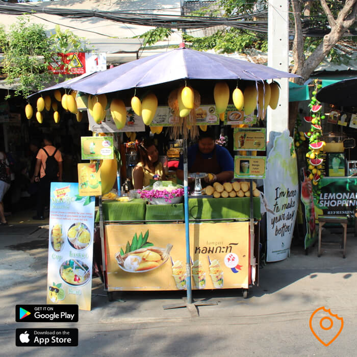 Chatuchak Market Food Mango Sticky Rice Vendor