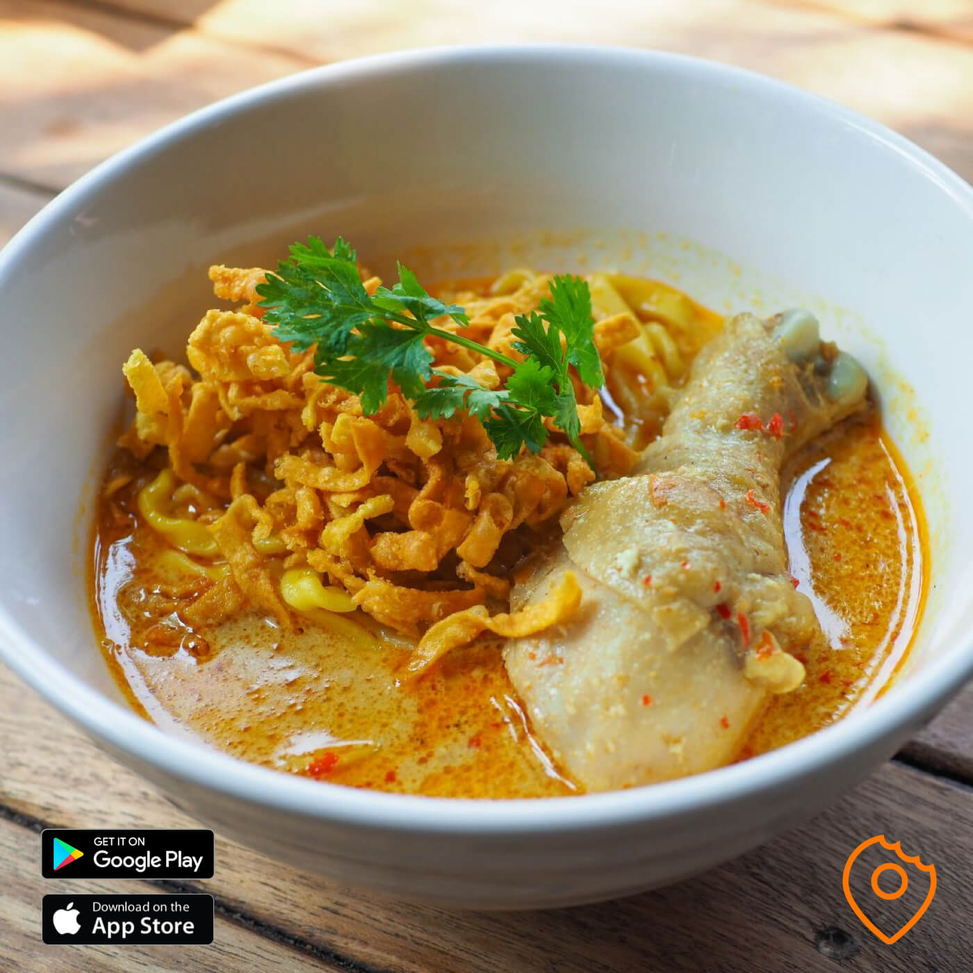 khao soi chicken at kao soi nimman