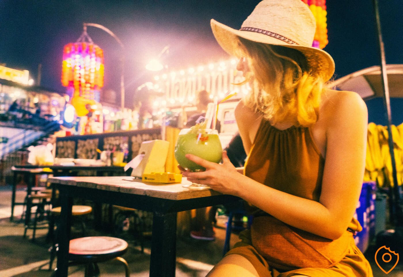 cocktails at night markets in Bangkok