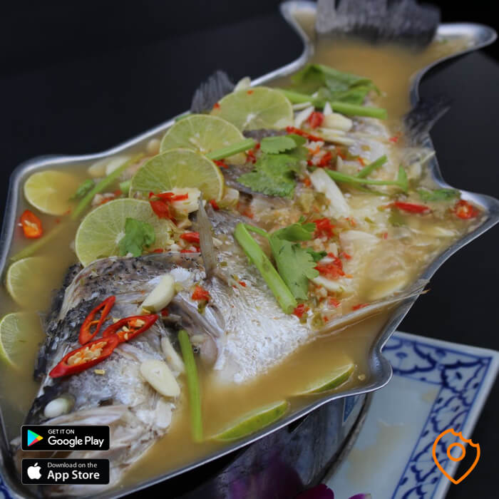 Pattaya Food Steamed Sea Bass