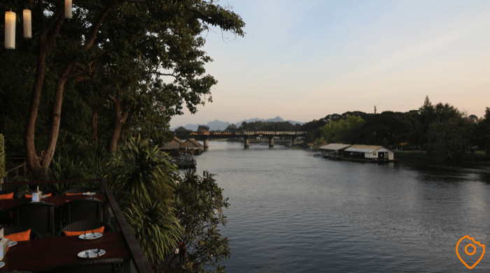 View on bridge over river kwai