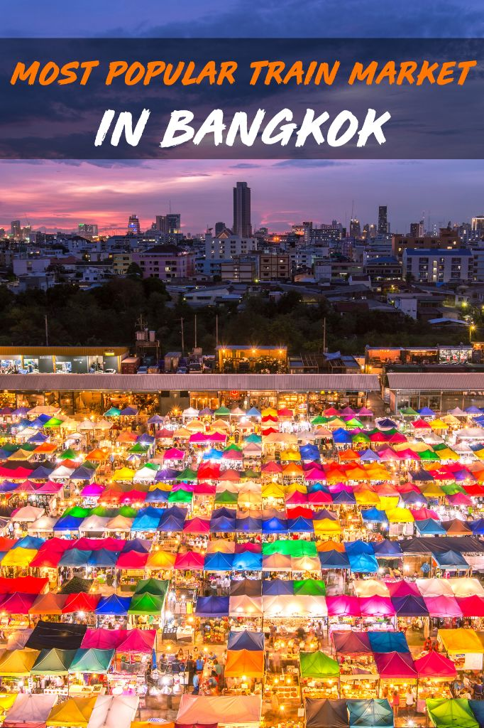 Most Popular Train Market in Bangkok