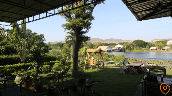 Blue Rice Restaurant Kanchanaburi View