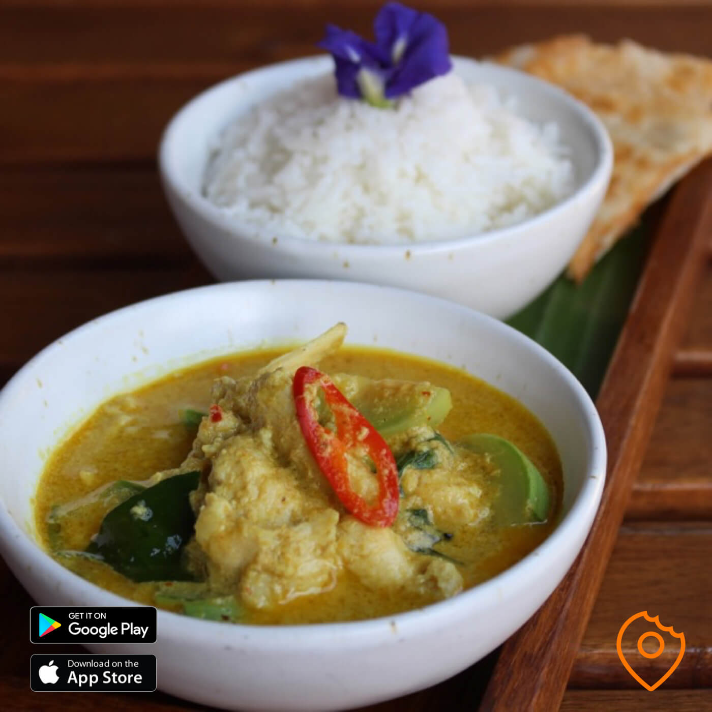 Elefin Green Curry with Roti