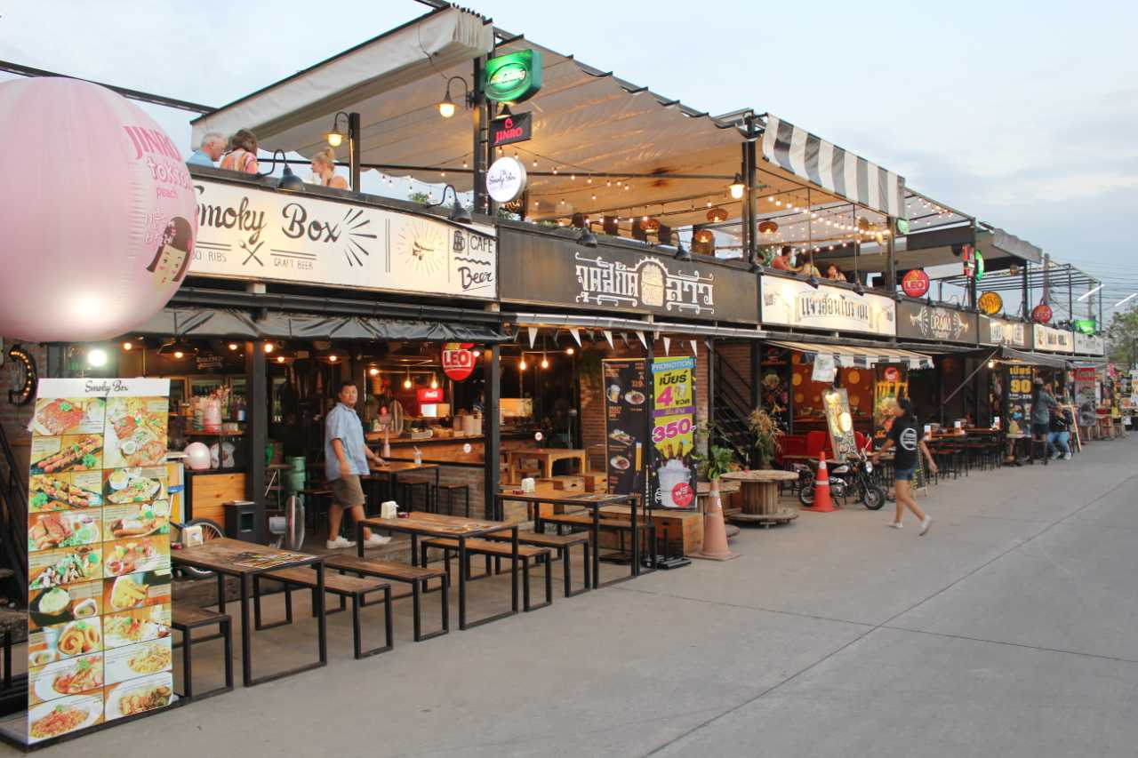 Rot Fai Market Surrounded by Drink Venues