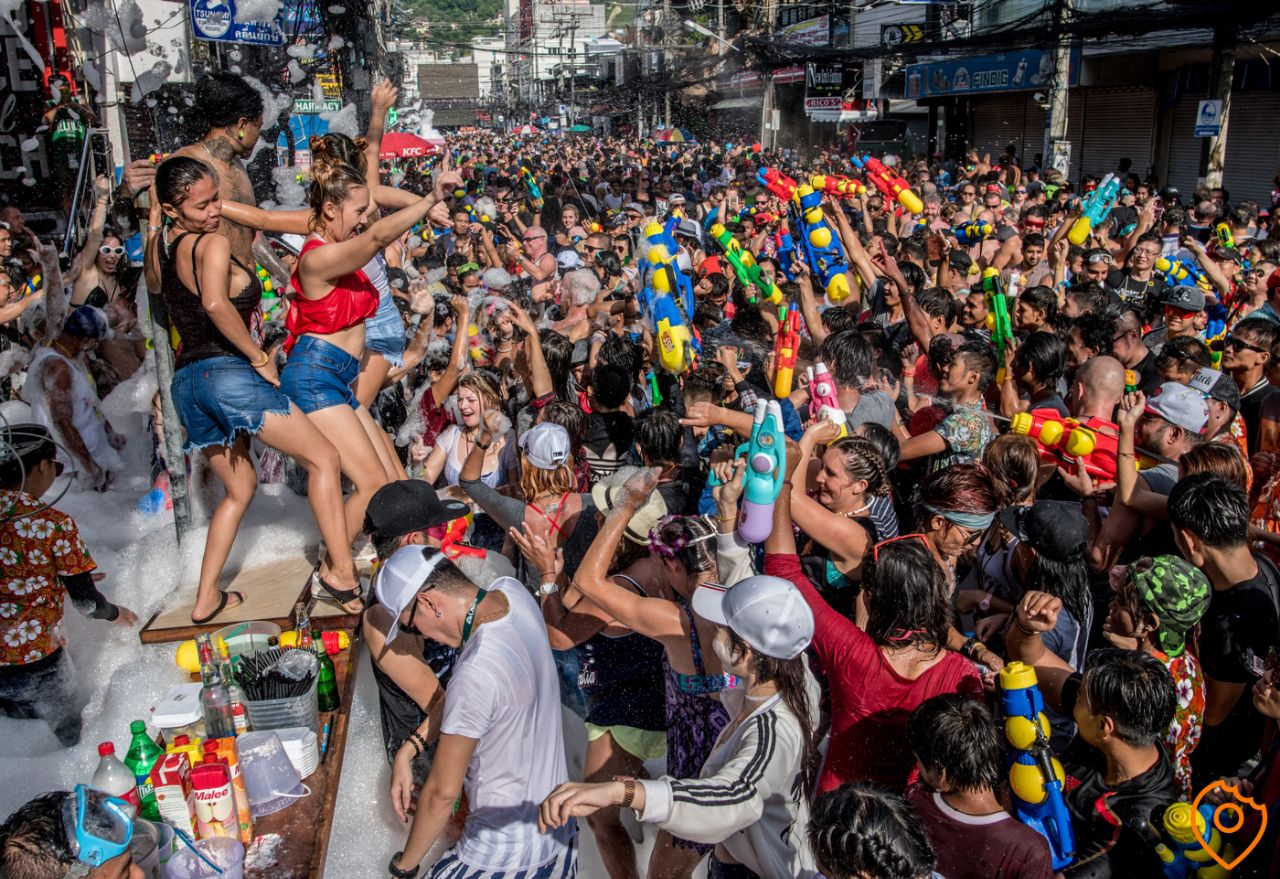 bangla road phuket during Songkran