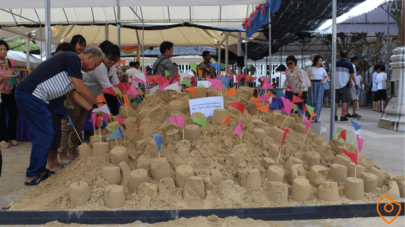 donate sand during songkran