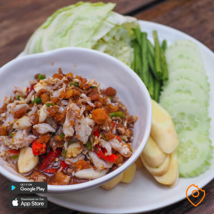 spicy thai food nam phrik