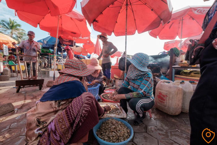 kep crab market in Cambodia