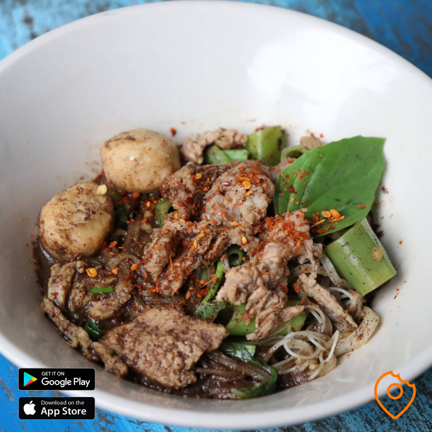 Boat Noodles with Sliced Fatty Beef Belly
