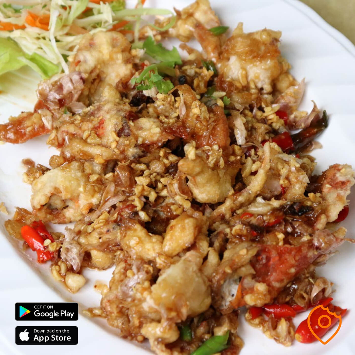 Fried Soft Crab with Garlic and Pepper