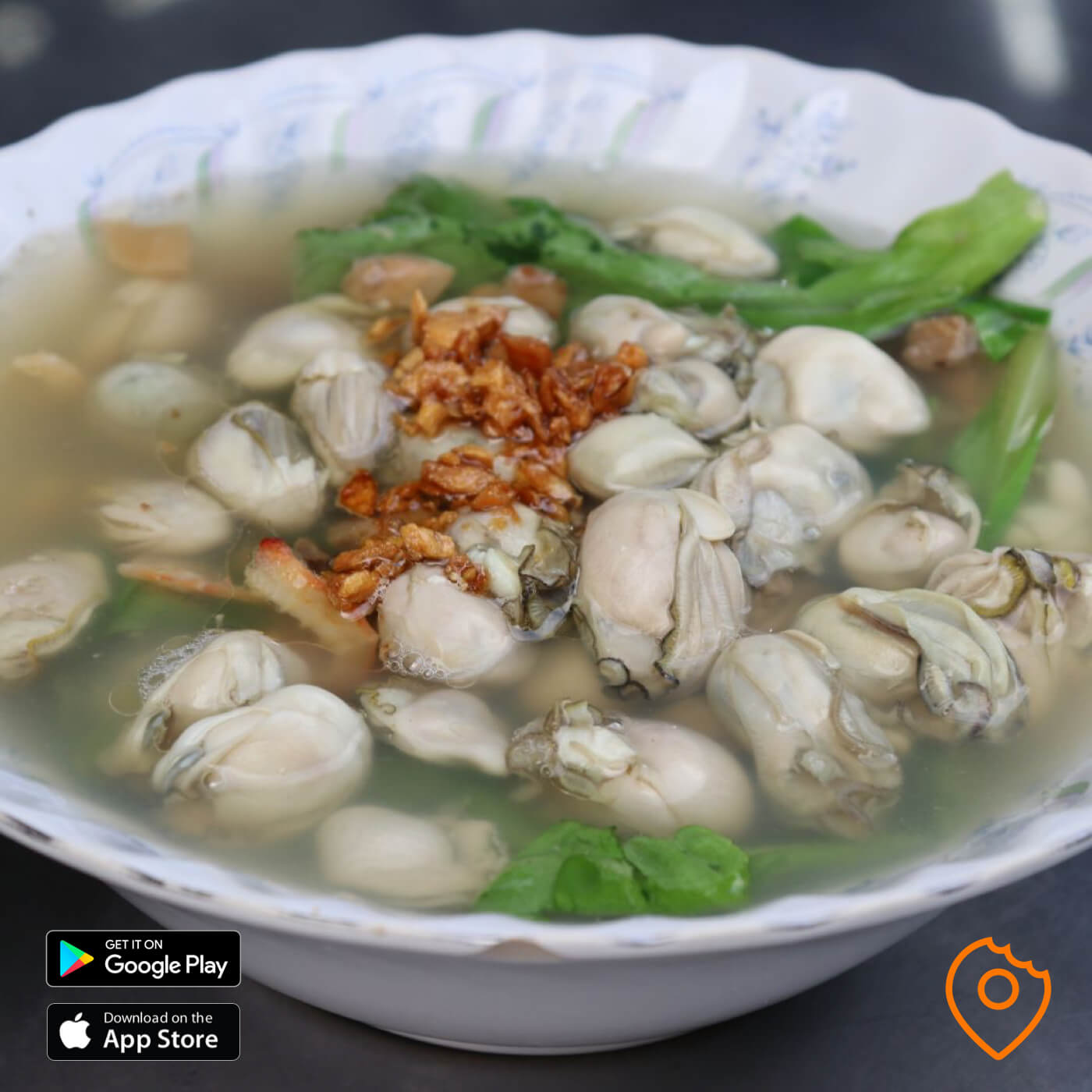 Rice Soup with oysters