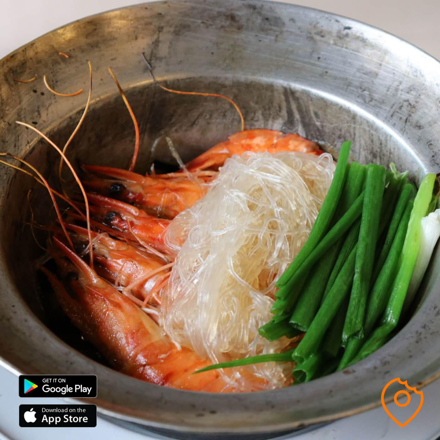 Roasted Prawns with Glass Noodles