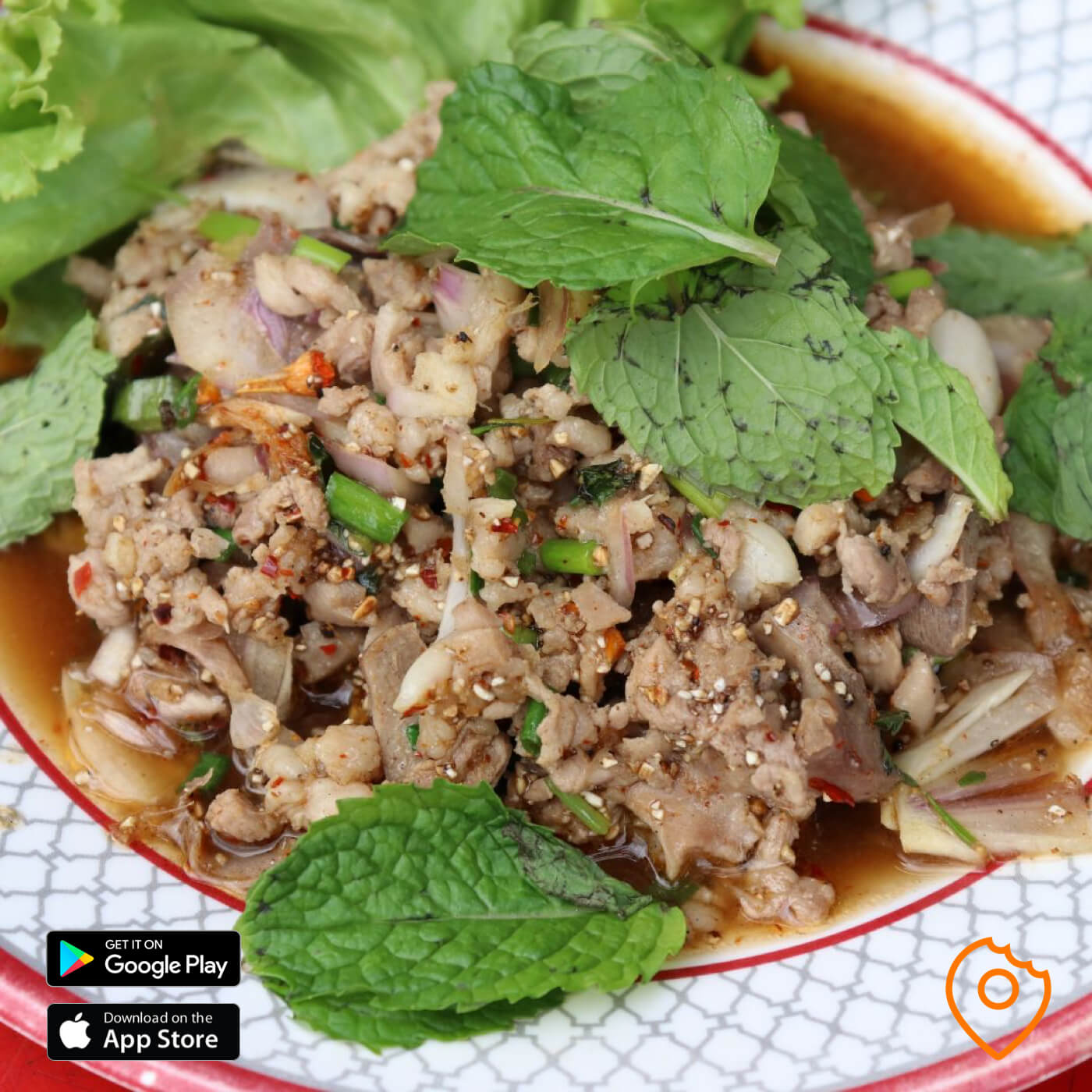 Spicy Minced Duck Larb