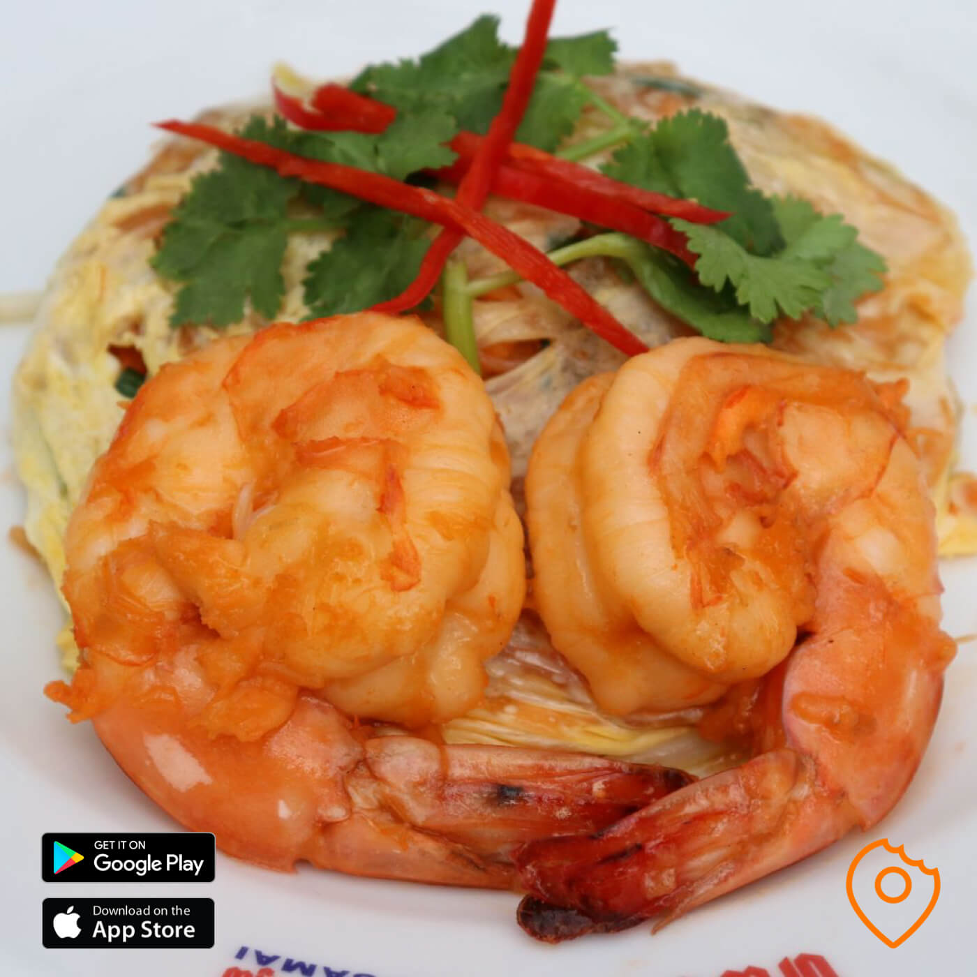 Superb Pad Thai with Big Prawns