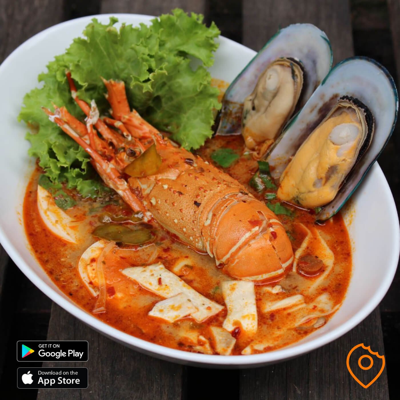 Tom yum lobster